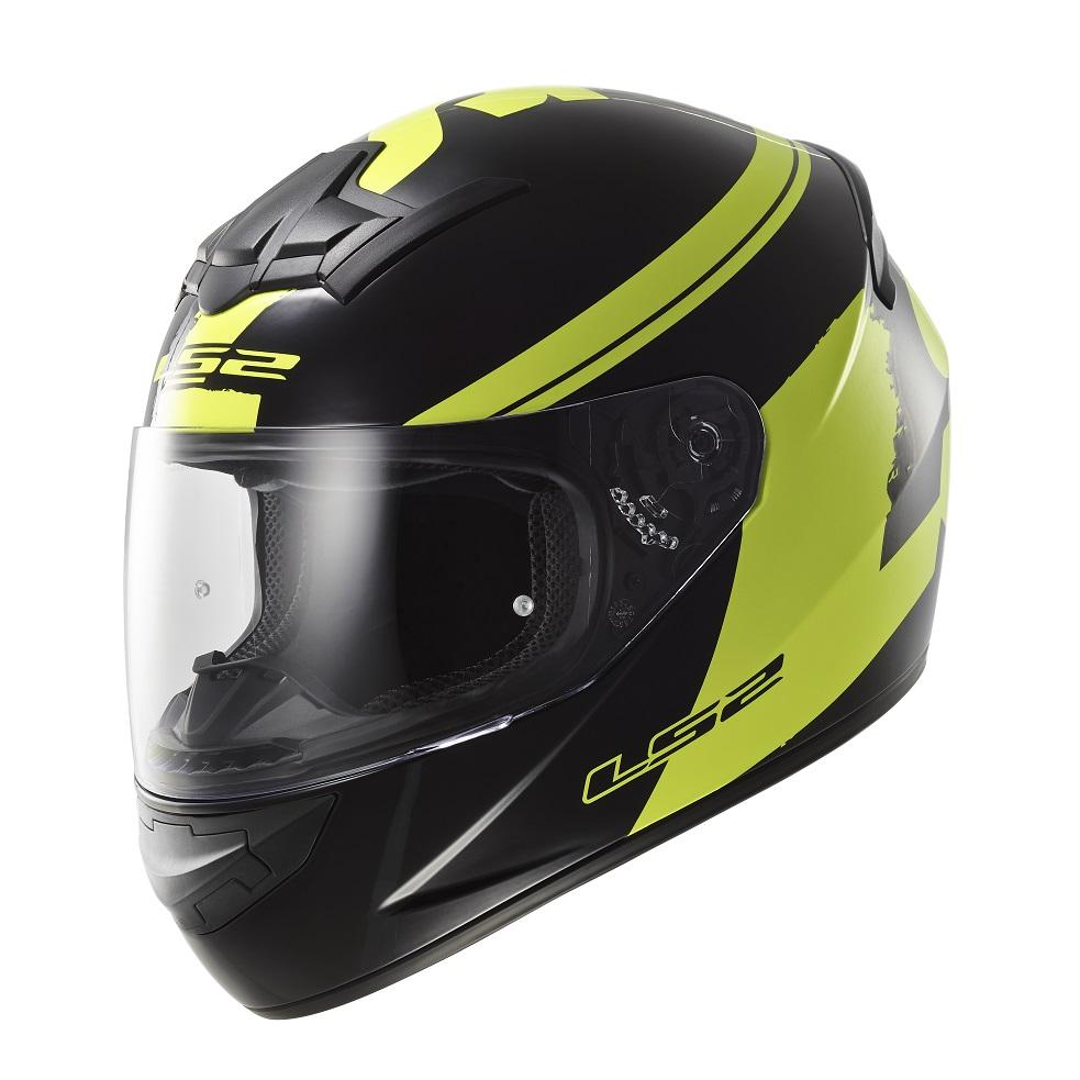 Moto prilba LS2 FF352 Rookie Fluo Black-Hi-Vis Yellow