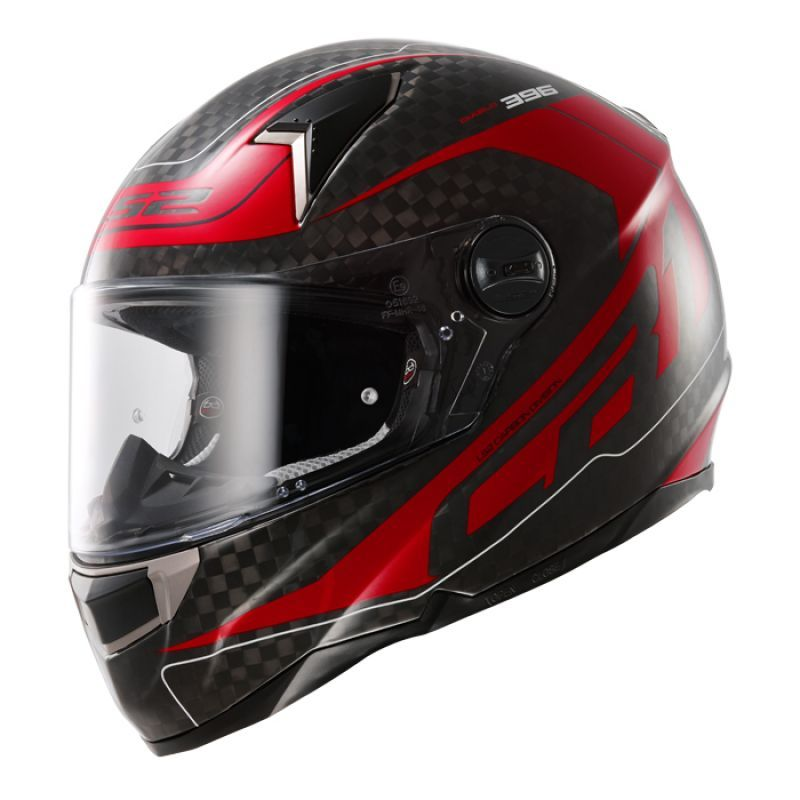 Moto prilba LS2 CR1 Trix Diablo Red Big Carbon - M (57-58)