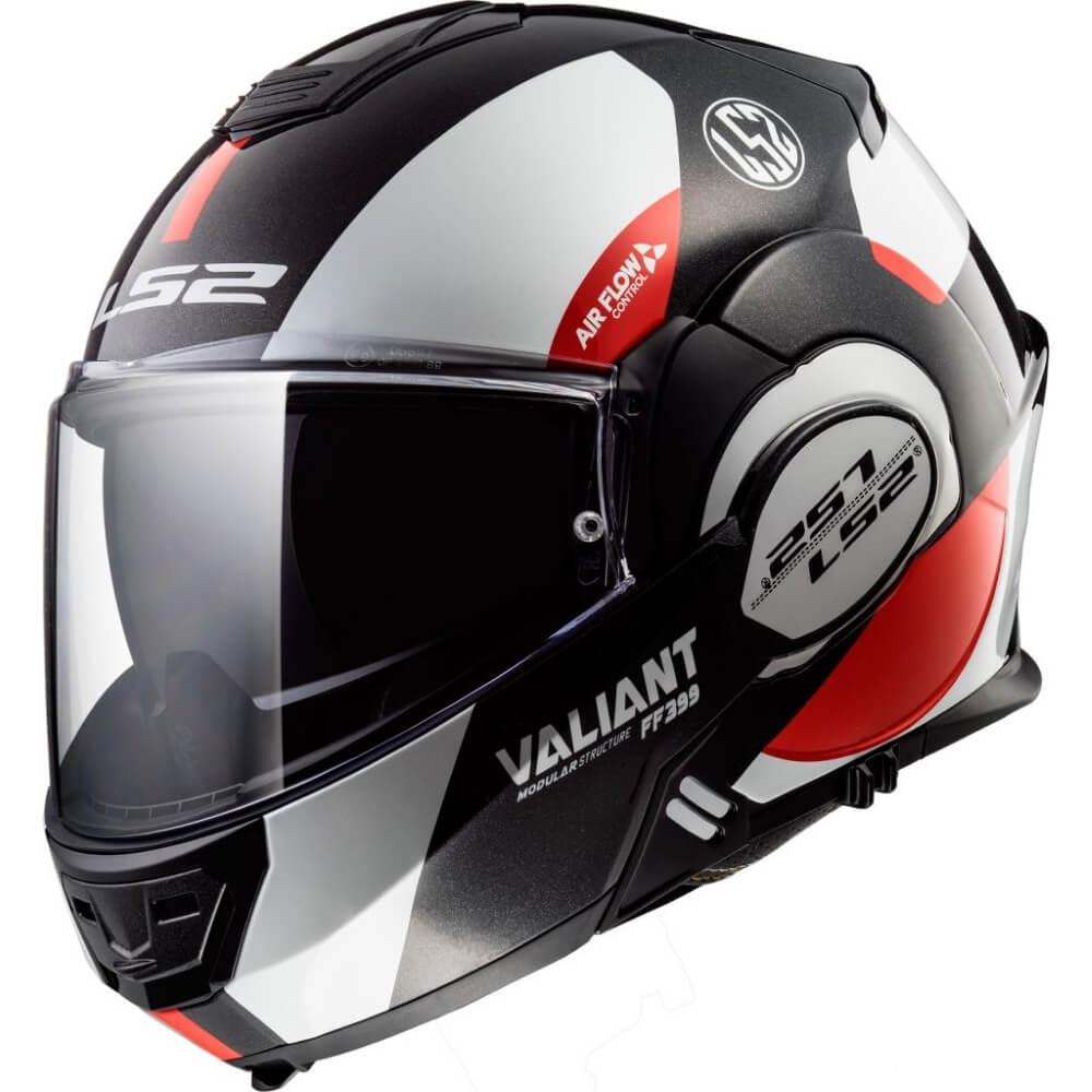 Výklopná prilba LS2 FF399 Valiant graphic Avant White Black Red - XS (53-54) - Záruka 5 rokov