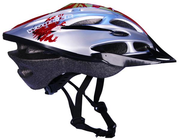 Cyklistická prilba WORKER Gladiator červená - S (50-52)