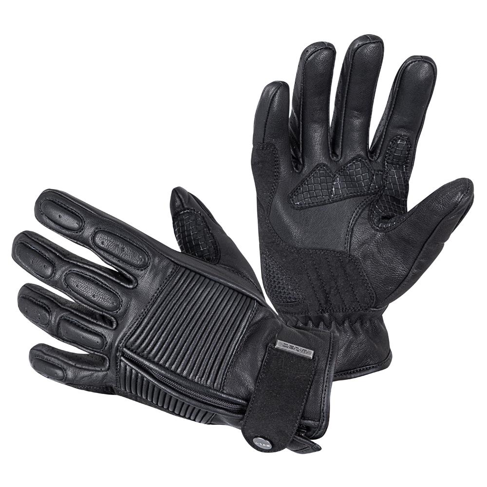 Kožené moto rukavice W-TEC Mareff čierna - M
