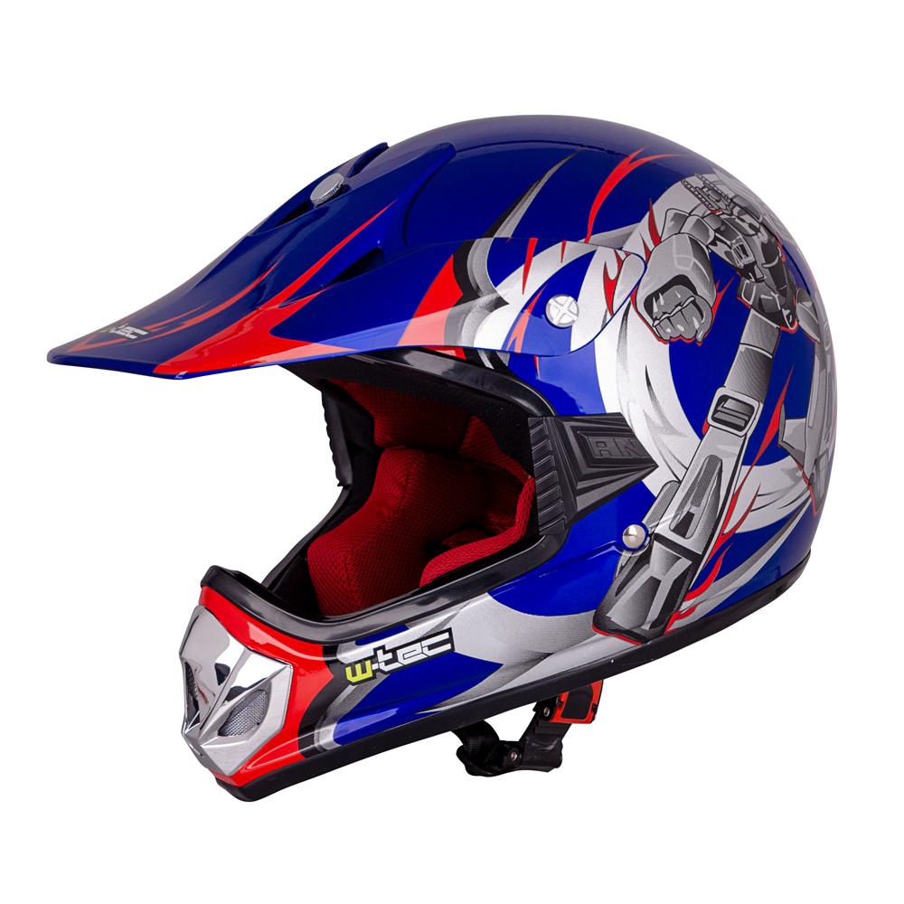 ee577a1a98d79 Detská moto prilba W-TEC V310 - Blue Transformers
