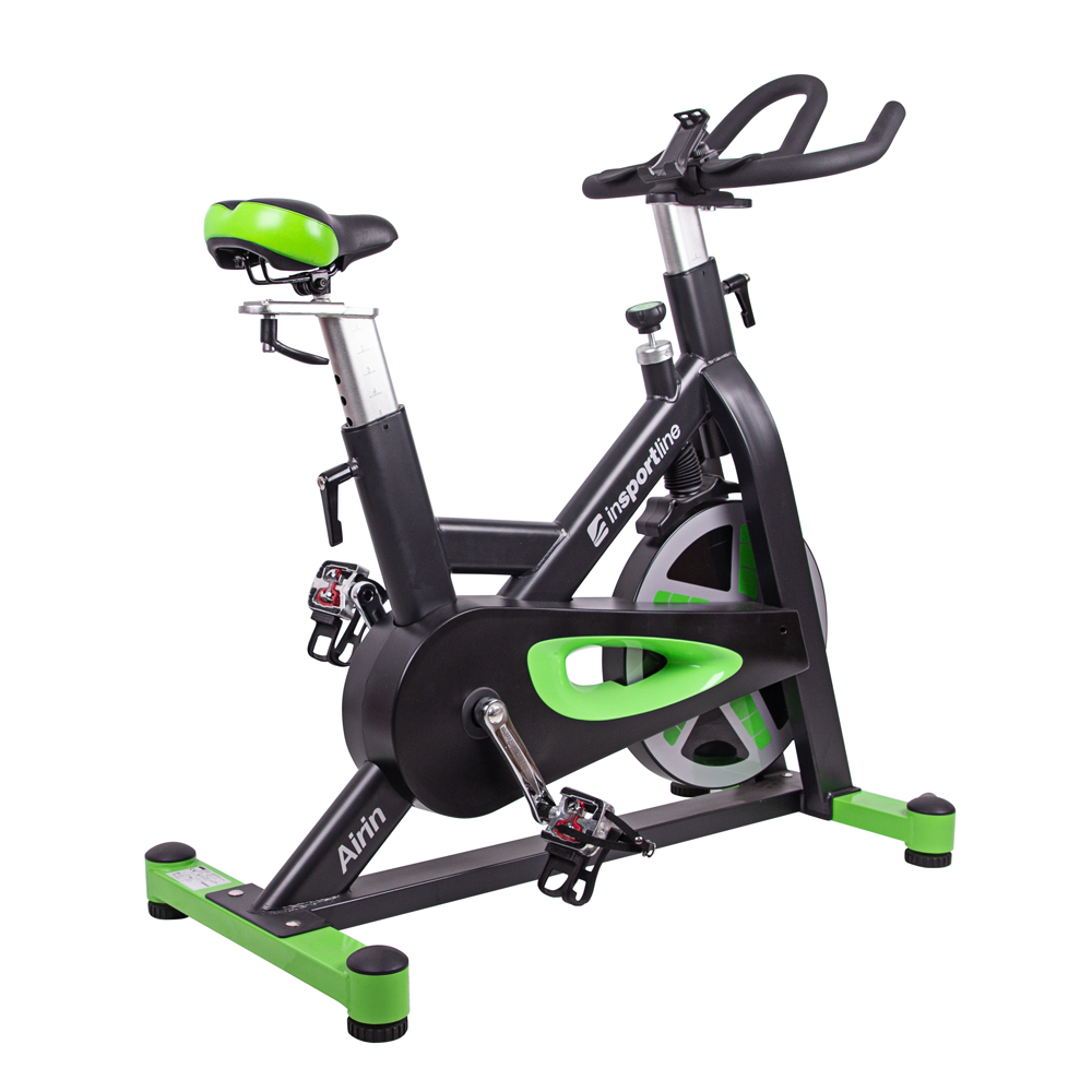 Cyklotrenažér inSPORTline Airin čierno-zelená - Záruka 10 rokov + Servis u zákazníka