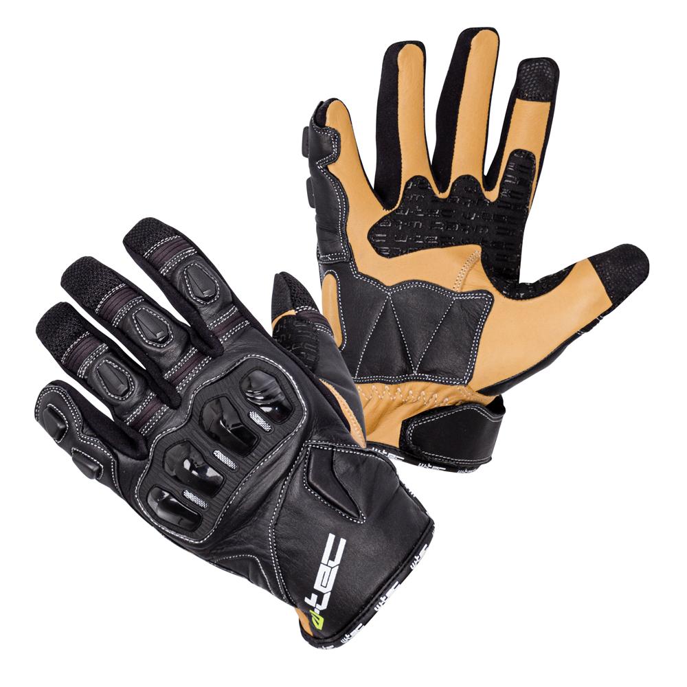 005e67e9f668 Kožené moto rukavice W-TEC Flanker B-6035 čierna - S