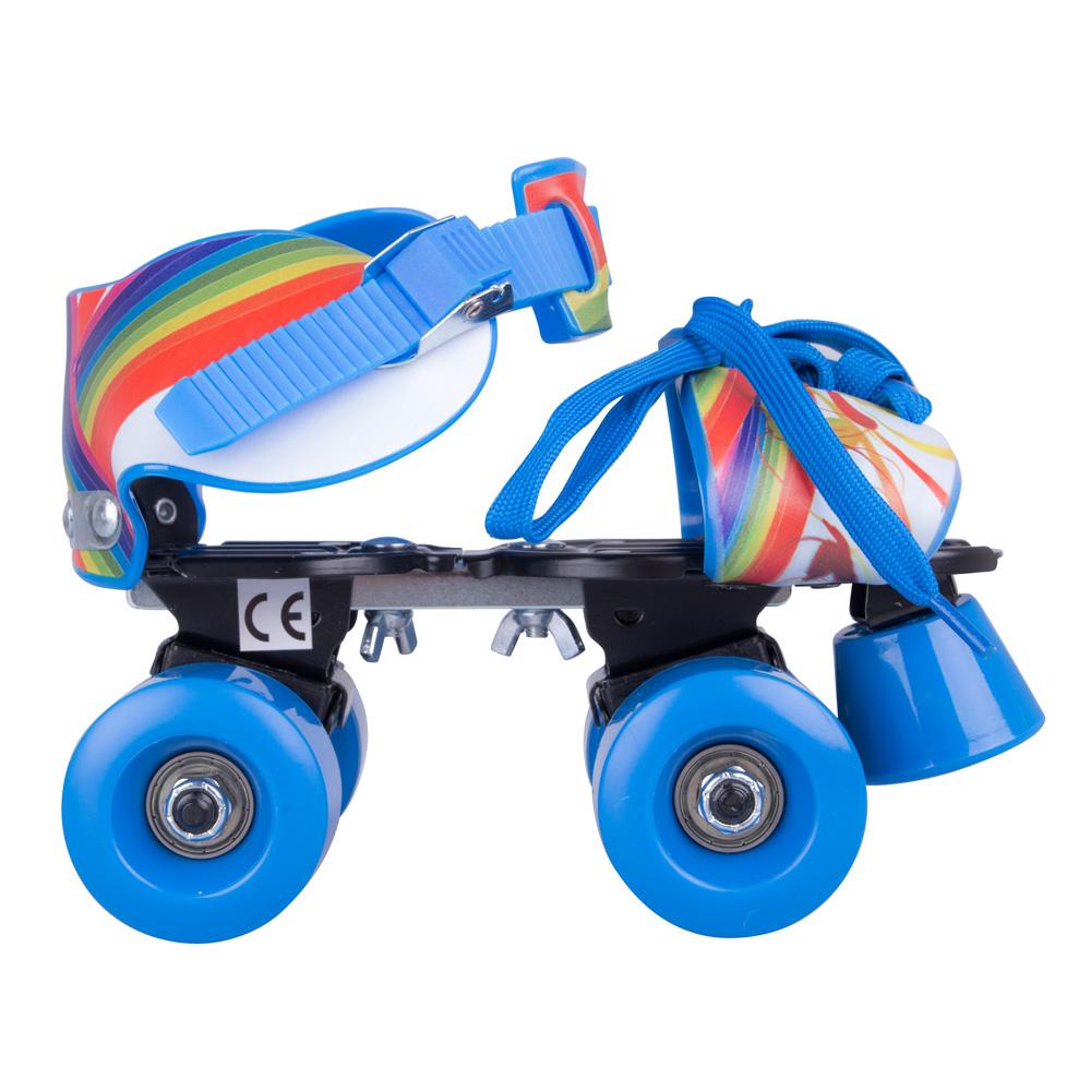 Nastaviteľné detské kolieskové korčule WORKER Garcetti Rainbow