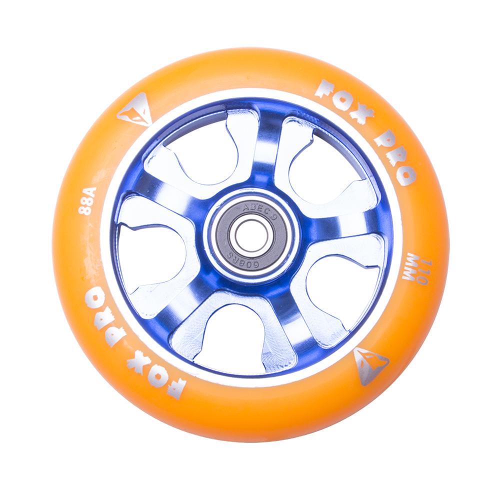 Náhradné koliesko pre kolobežku FOX PRO Raw 110 mm oranžovo-modrá