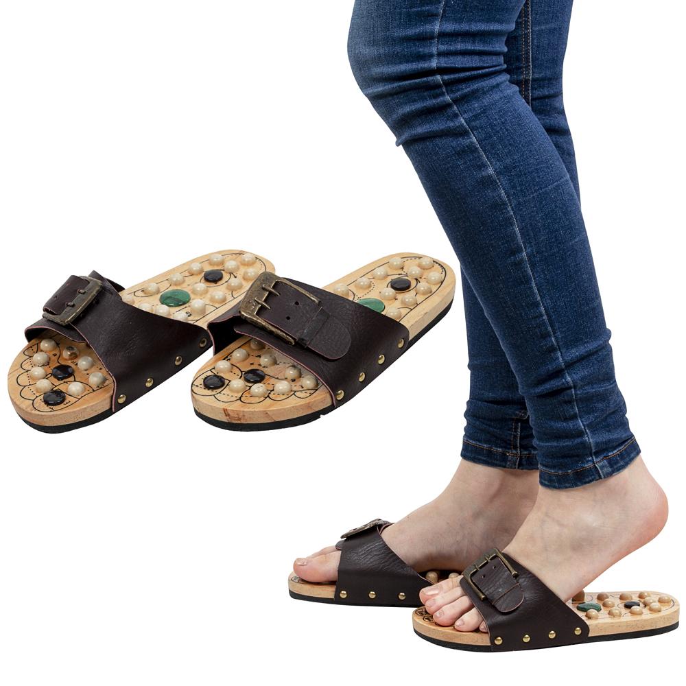 Masážne papuče inSPORTline Klabaka s magnetmi 38