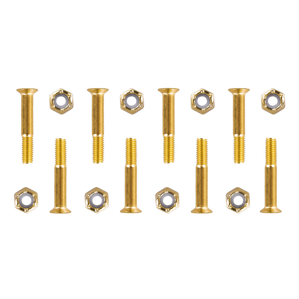 Podvozkové skrutky 5x28 mm zlatá