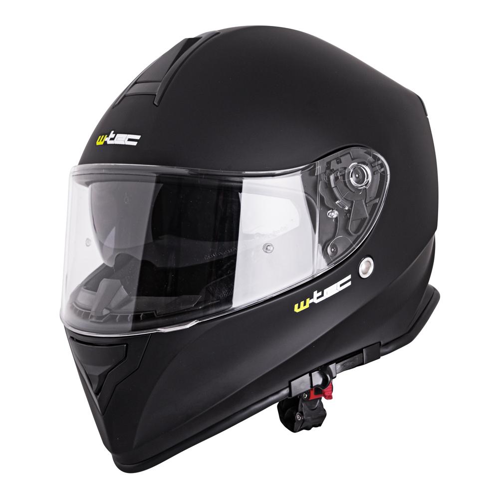 Moto prilba W-TEC V127 matne čierna - S (55-56)