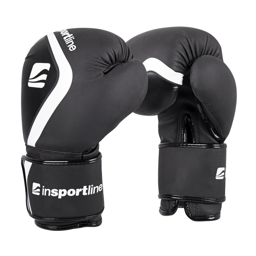 Boxerské rukavice inSPORTline Shormag čierna - 14oz