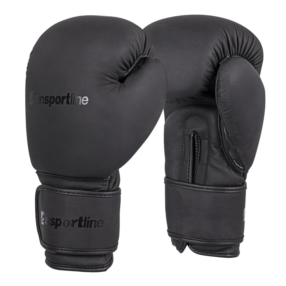 Boxerské rukavice inSPORTline Kuero čierna - 14oz