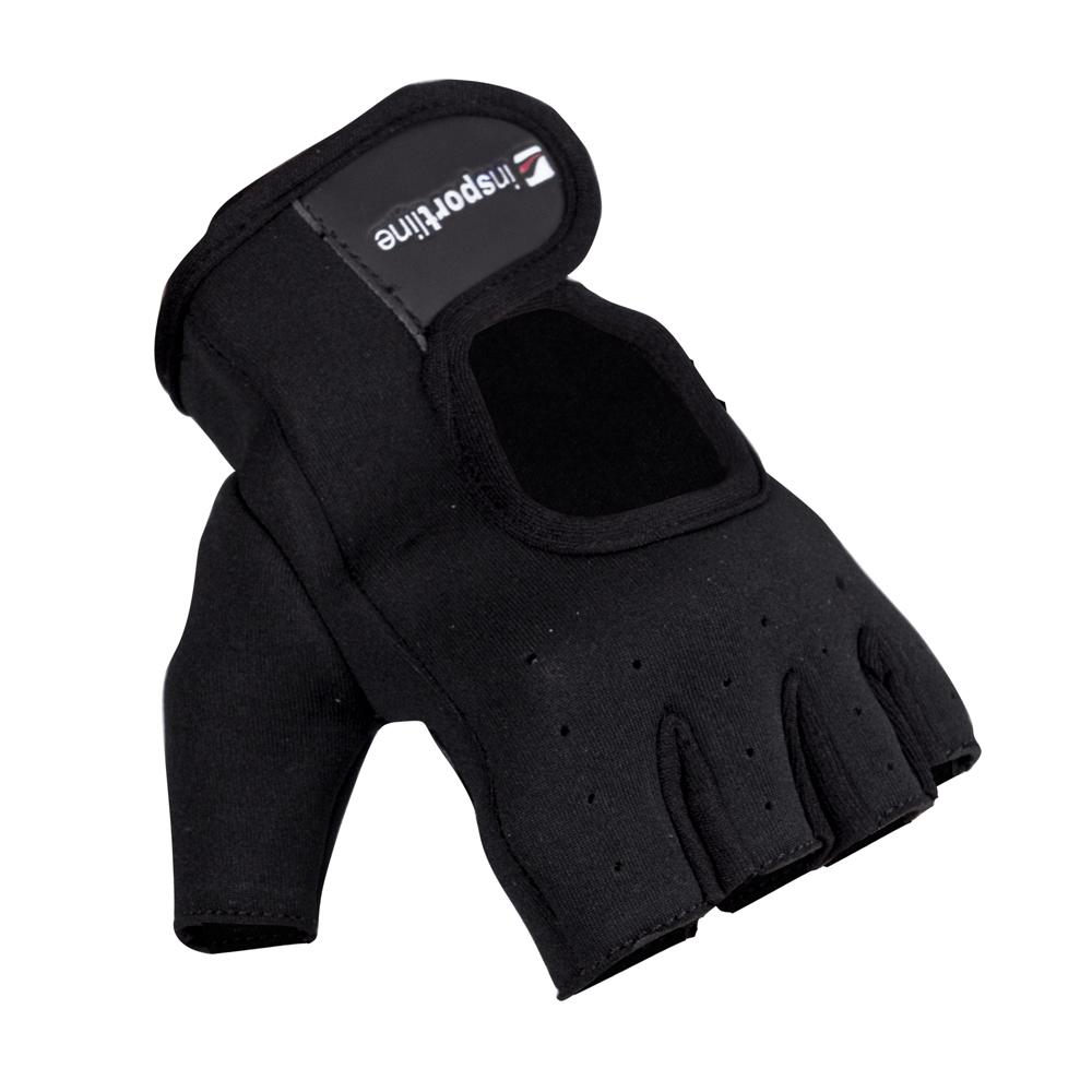 Neoprenové fitness rukavice inSPORTline Aktenvero čierna - M