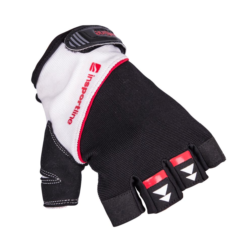 Fitness rukavice inSPORTline Harjot čierno-biela - M