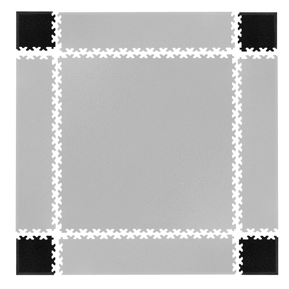 Rohy pre podložku Simple 4ks čierne