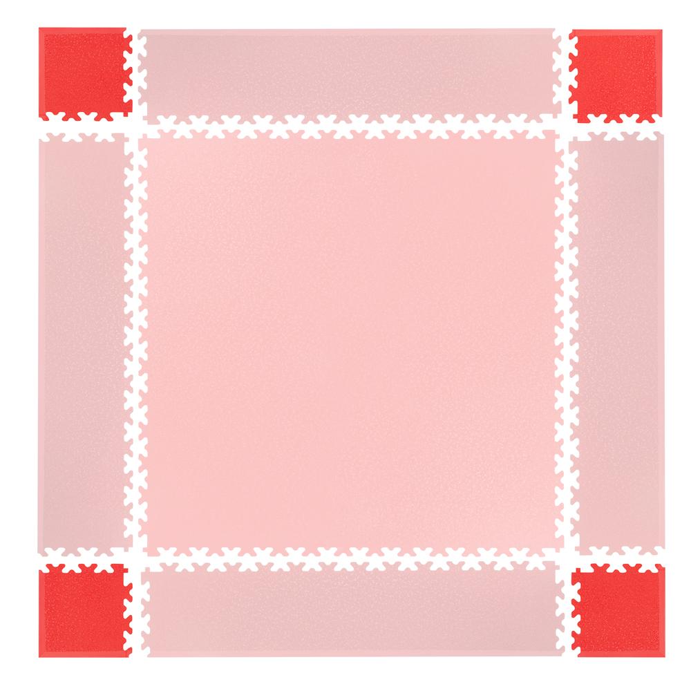 Rohy pre podložku Simple 4ks červené