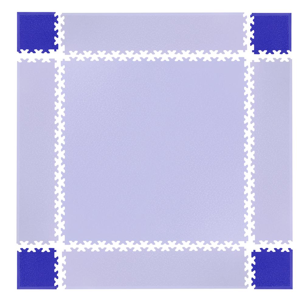 Rohy pre podložku Simple 4ks modré