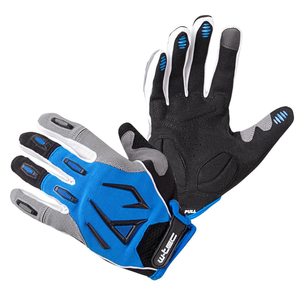Motokrosové rukavice W-TEC Atmello modrá - M