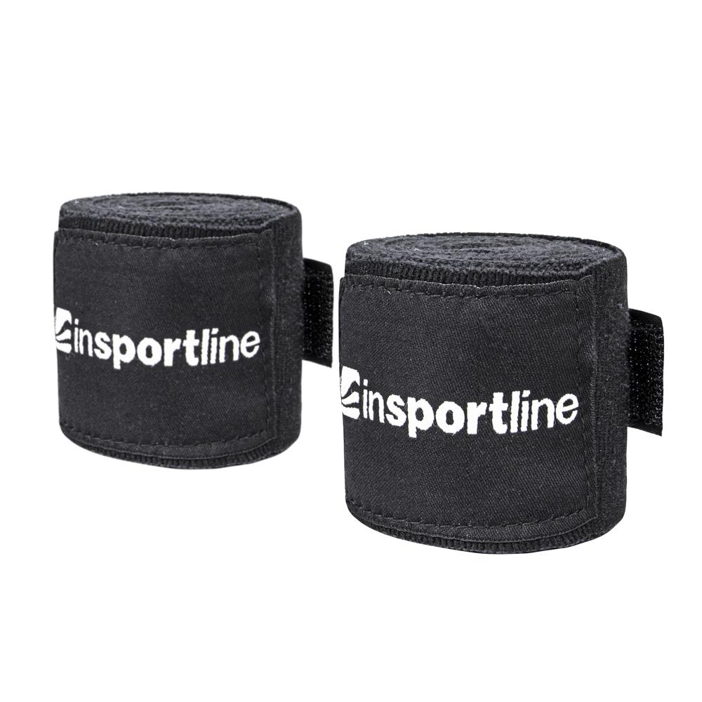 Boxerská bandáž inSPORTline Envolto 3,5 m čierna