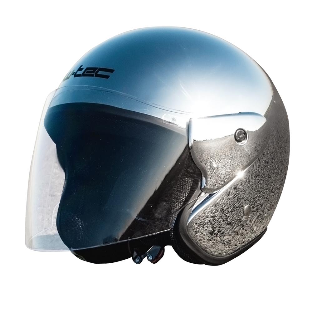Moto prilba W-TEC AP-74 chrome mirror