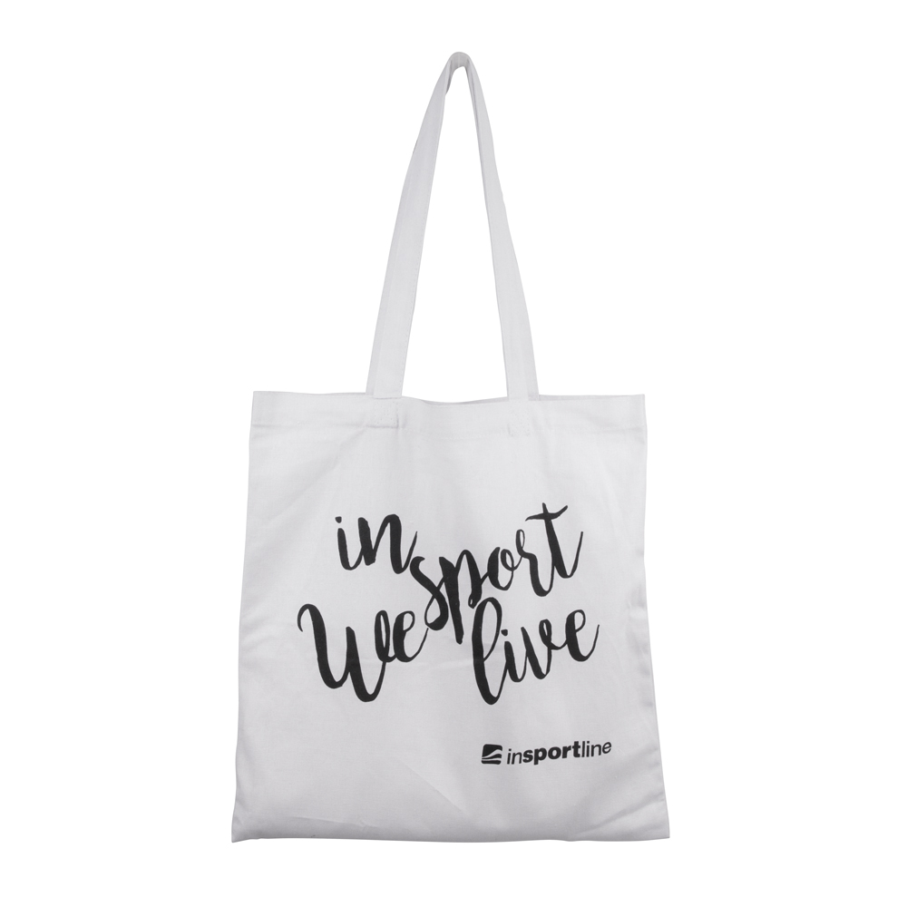 Plátenná taška inSPORTline Sportsa biela