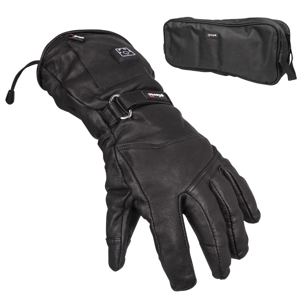 Kožené vyhrievané lyžiarske a moto rukavice Glovii GS5