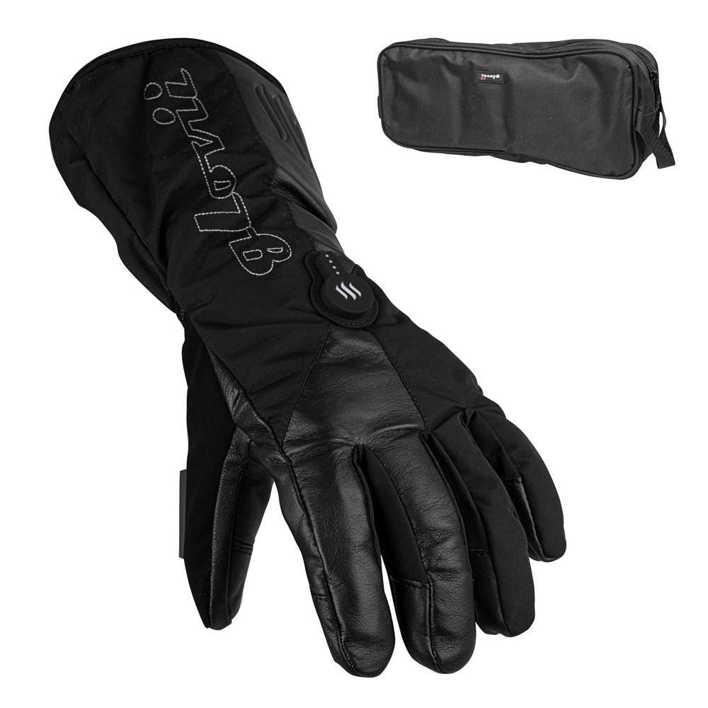 Vyhrievané lyžiarske a moto rukavice Glovii GS9 čierna - L