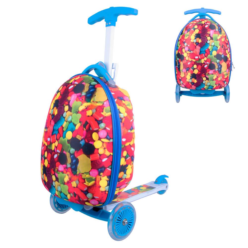 Detská kolobežka s kufríkom WORKER Lagy candy