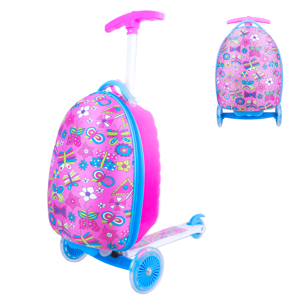 Detská kolobežka s kufríkom WORKER Lagy ružová