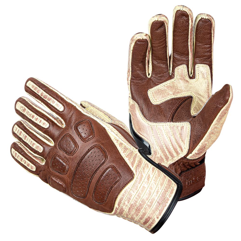 Kožené moto rukavice W-TEC Retro Gloves