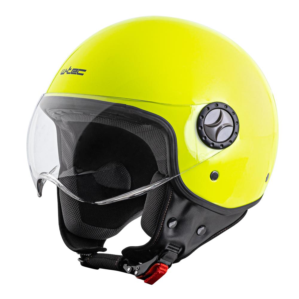 Prilba na skúter W-TEC FS-701FY Fluo Yellow