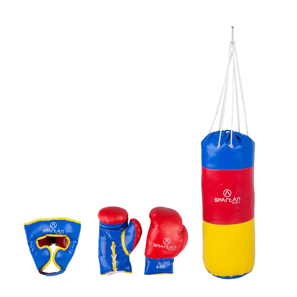 Boxovací set Spartan vrece 1 kg + chránič hlavy + rukavice