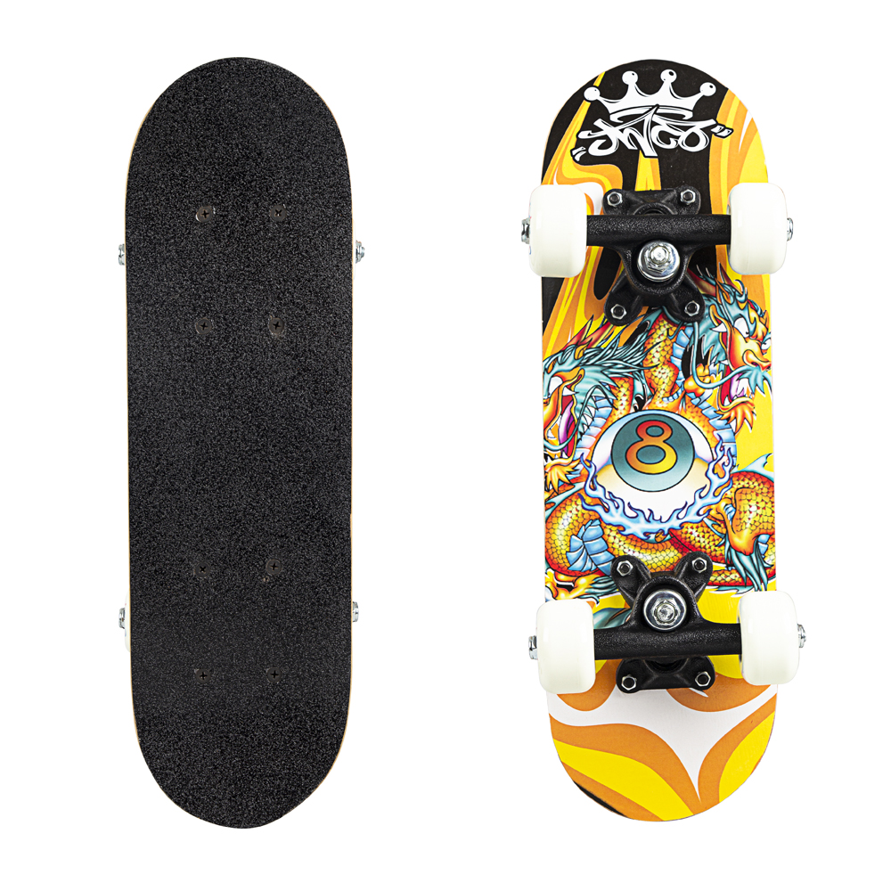 Skateboard Mini Board Orange Dragon