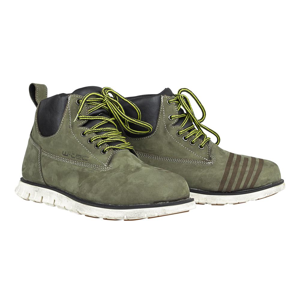Moto topánky W-TEC Exetero Olive