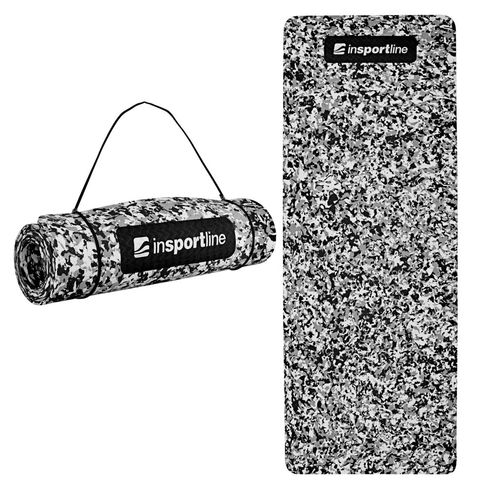 Podložka na cvičenie inSPORTline Camu 173x61x0,8 cm šedý maskáč