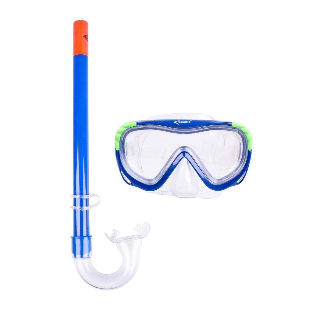 Sada na potápanie Escubia Turtle Kid Set modrá
