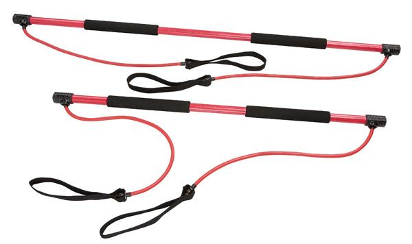 Posilňovacia tyč inSPORTline s gumou 130 cm