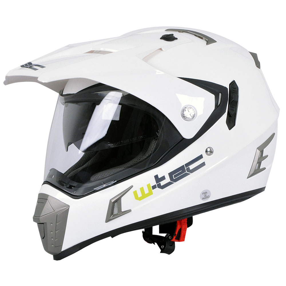 Moto prilba W-TEC NK-311 White Shine - XS (53-54)