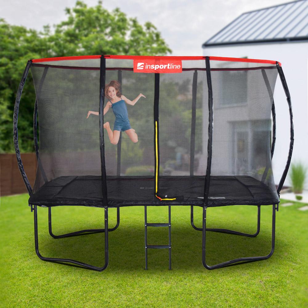 Obdĺžnikový trampolínový set inSPORTline QuadJump 244*335 cm