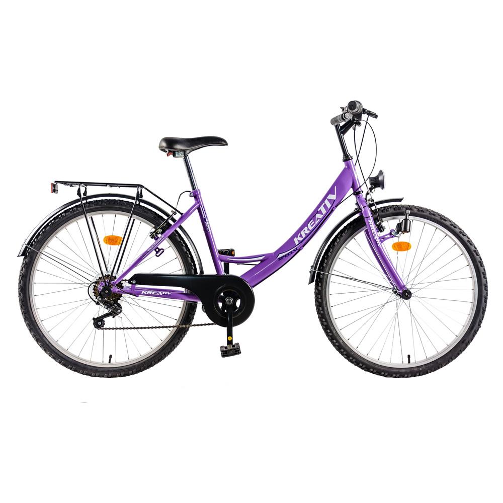 Dámsky trekingový bicykel DHS 2614 fialová - Záruka 10 rokov