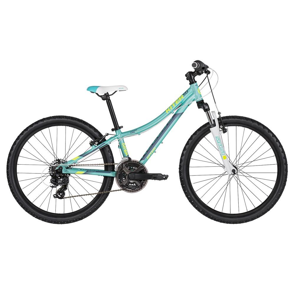 "Juniorský bicykel KELLYS KITER 50 24"" - model 2019 Aqua - Záruka 10 rokov"