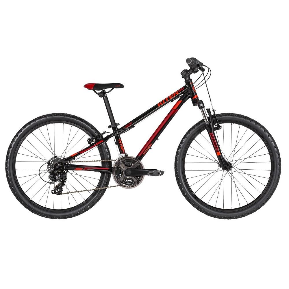 "Juniorský bicykel KELLYS KITER 50 24"" - model 2019 Black Red - Záruka 10 rokov"