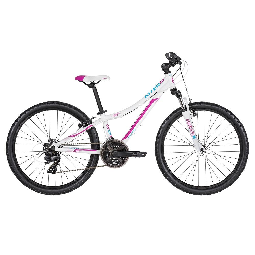 "Juniorský bicykel KELLYS KITER 50 24"" - model 2019 White - Záruka 10 rokov"
