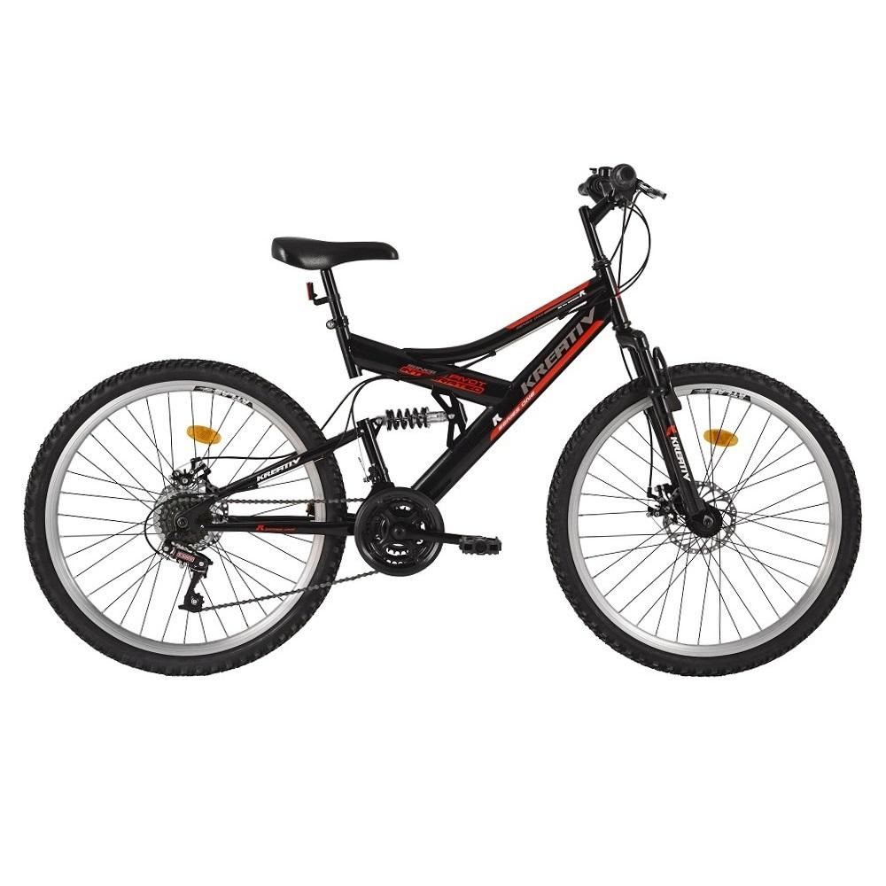 "Celoodpružený bicykel Kreativ 2643 26"" - model 2016 Black - Záruka 10 rokov"