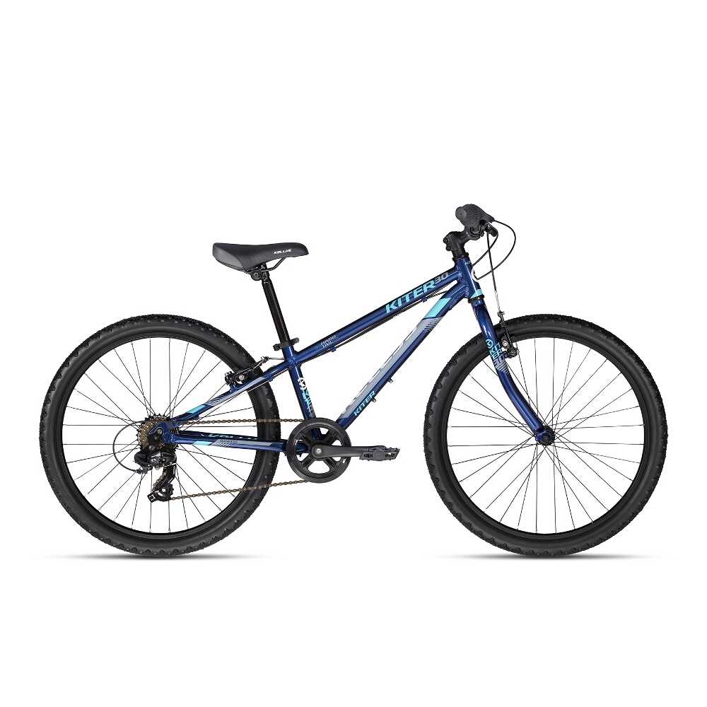"Juniorský bicykel KELLYS KITER 30 24"" - model 2018 Deep Blue - Záruka 10 rokov"
