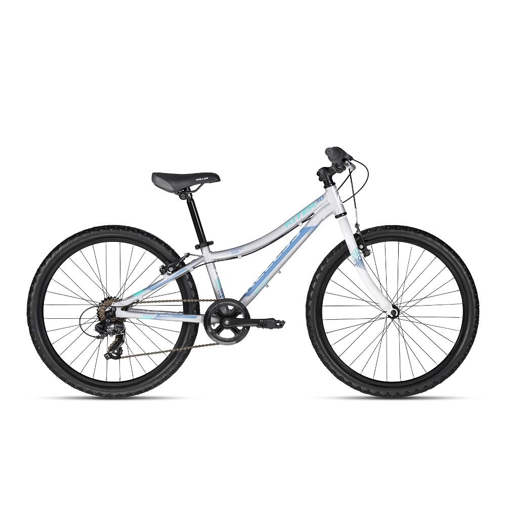 """Juniorský bicykel KELLYS KITER 30 24"""" - model 2018 Silver - Záruka 10 rokov"""