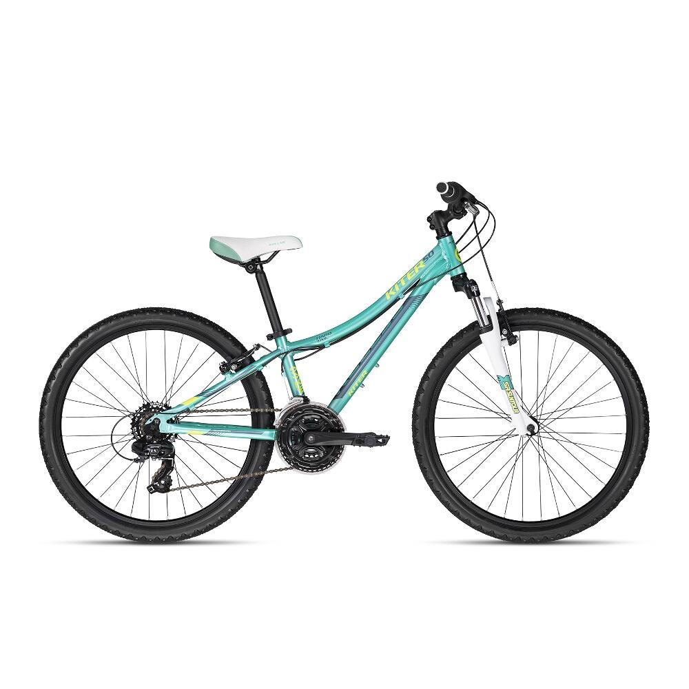 "Juniorský bicykel KELLYS KITER 50 24"" - model 2018 Aqua - Záruka 10 rokov"