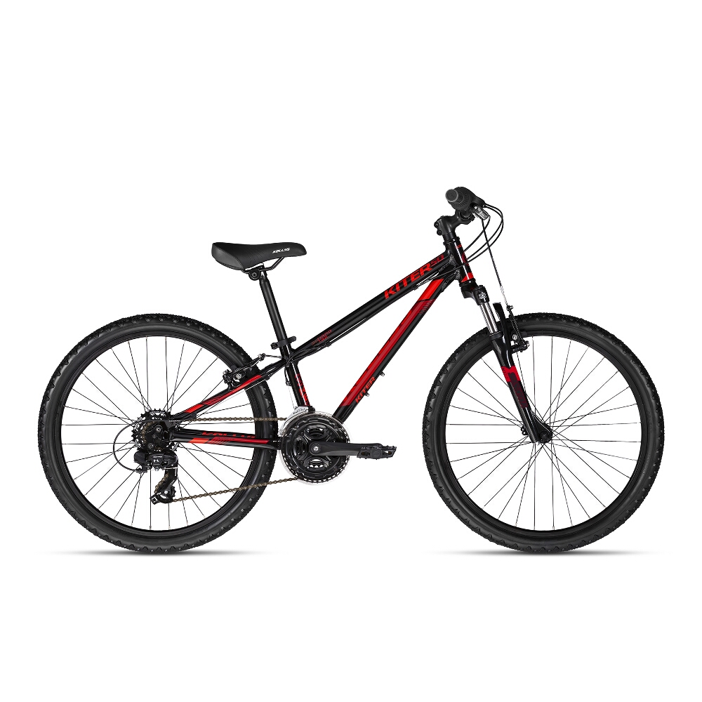 "Juniorský bicykel KELLYS KITER 50 24"" - model 2018 Black Red - Záruka 10 rokov"
