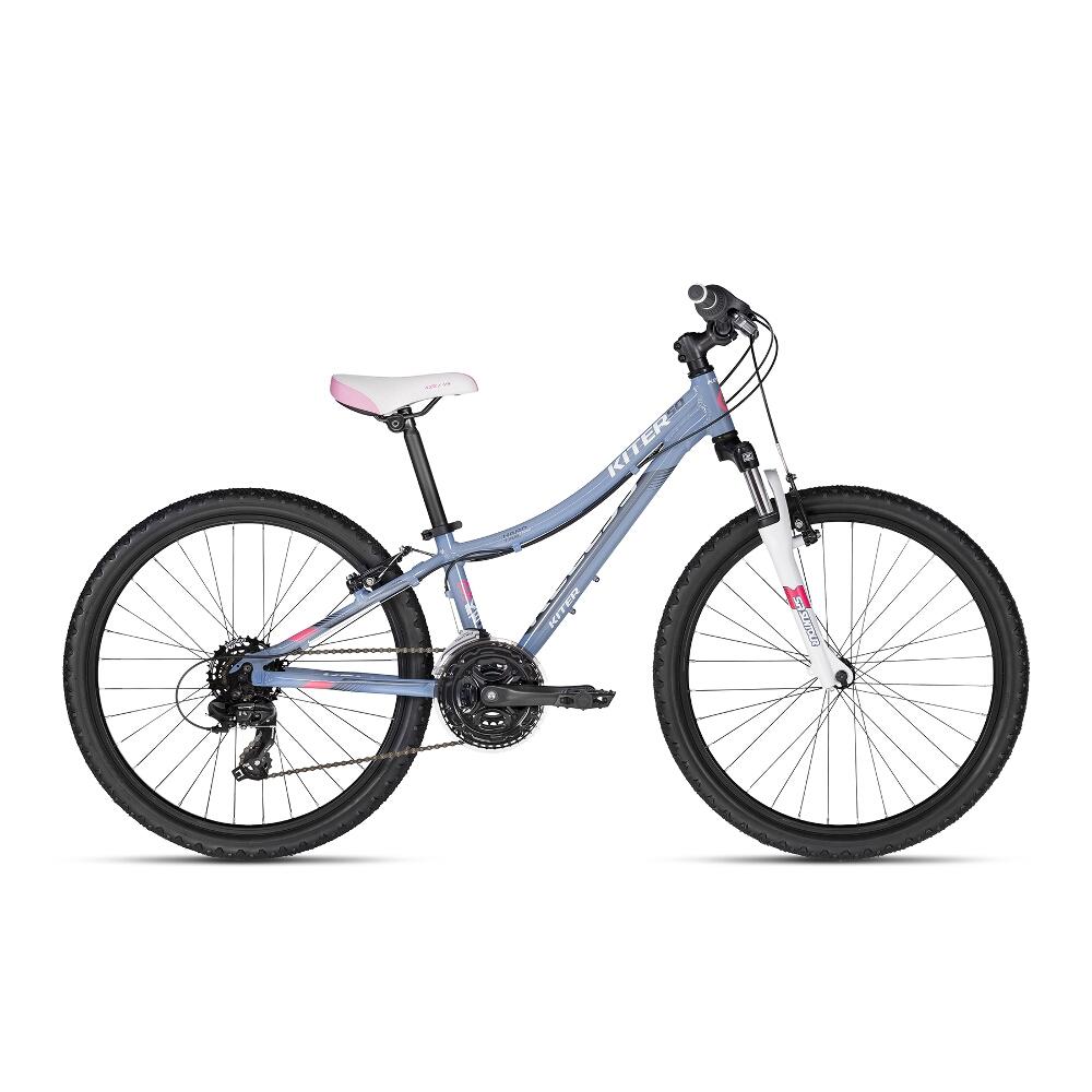 "Juniorský bicykel KELLYS KITER 50 24"" - model 2018 Grey - Záruka 10 rokov"