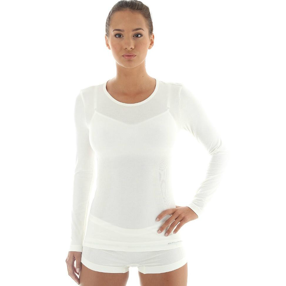 08b896d7d21f Dámske tričko Brubeck - vlna dlhý rukáv - krémovo biela - inSPORTline