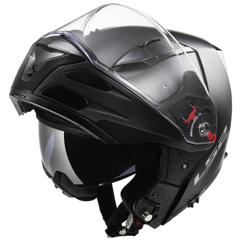 Výklopná moto prilba LS2 FF324 Metro Solid matne čierna - XS (53-54)